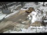 Разворот на танке Т-90МС.